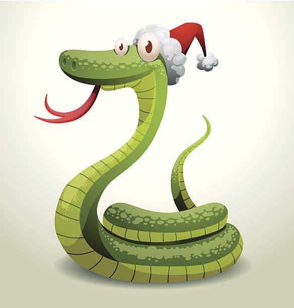 illustrazioni stock, clip art, cartoni animati e icone di tendenza di santa serpente raggomitolato - santa claus tiptoeing