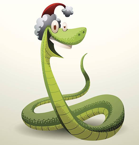 illustrazioni stock, clip art, cartoni animati e icone di tendenza di santa serpente ridere - santa claus tiptoeing