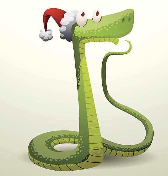 illustrazioni stock, clip art, cartoni animati e icone di tendenza di santa serpente pensare a qualcosa - santa claus tiptoeing