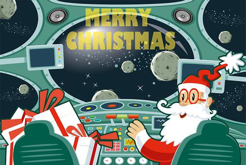 Easy editable  merry christmas vector illustration..