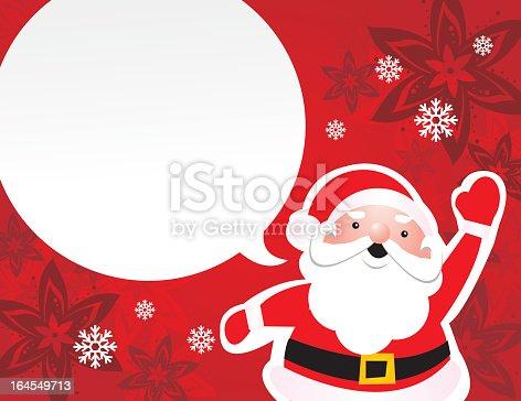 istock Santa speaking 164549713