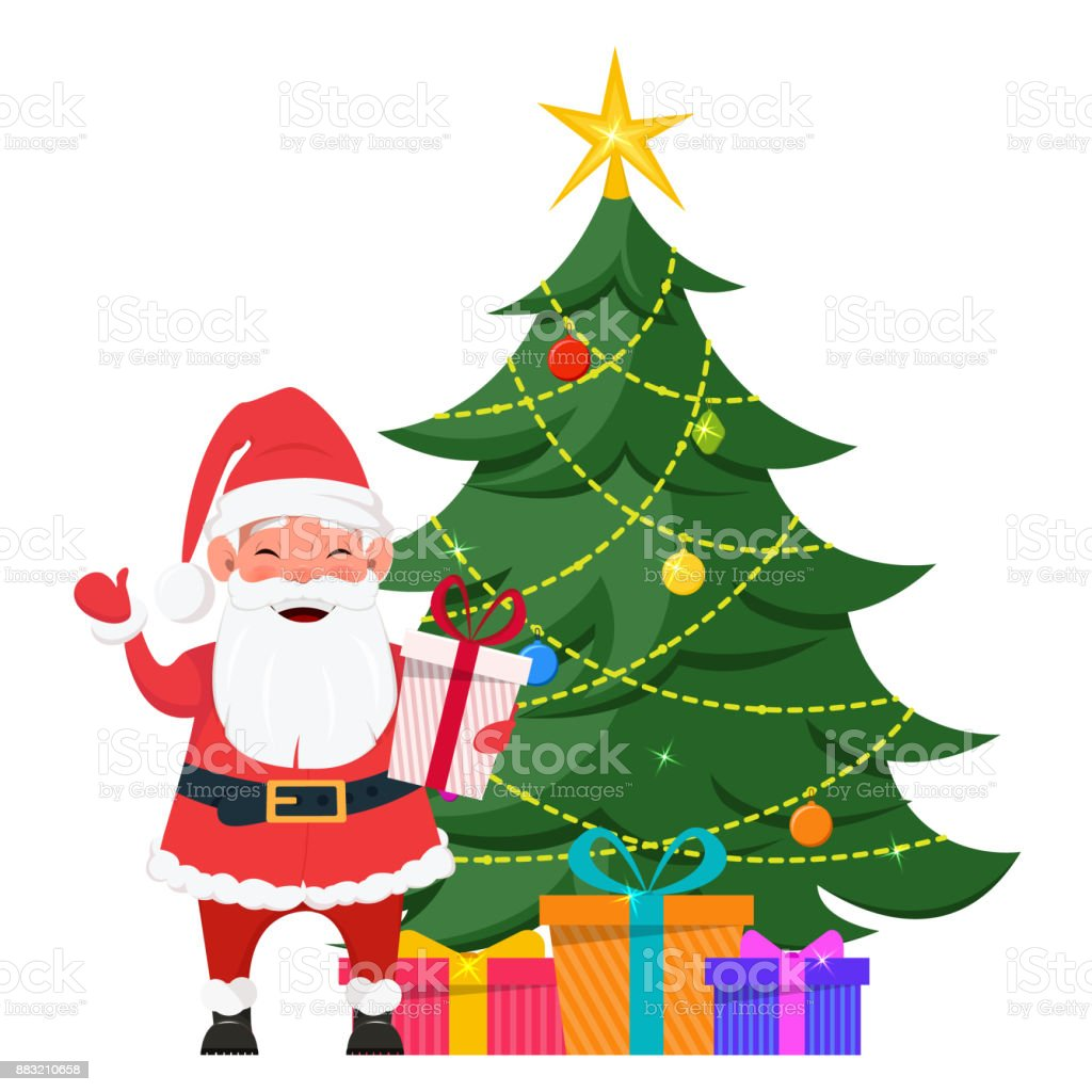 Santa Standing Near Christmas Tree With Presents Under It Stock Illustration Download Image Now Istock Check out inspiring examples of cartoon_tree artwork on deviantart, and get inspired by our community of talented artists. santa standing near christmas tree with presents under it stock illustration download image now istock