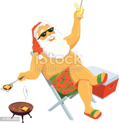 istock Santa Summertime C 475004855