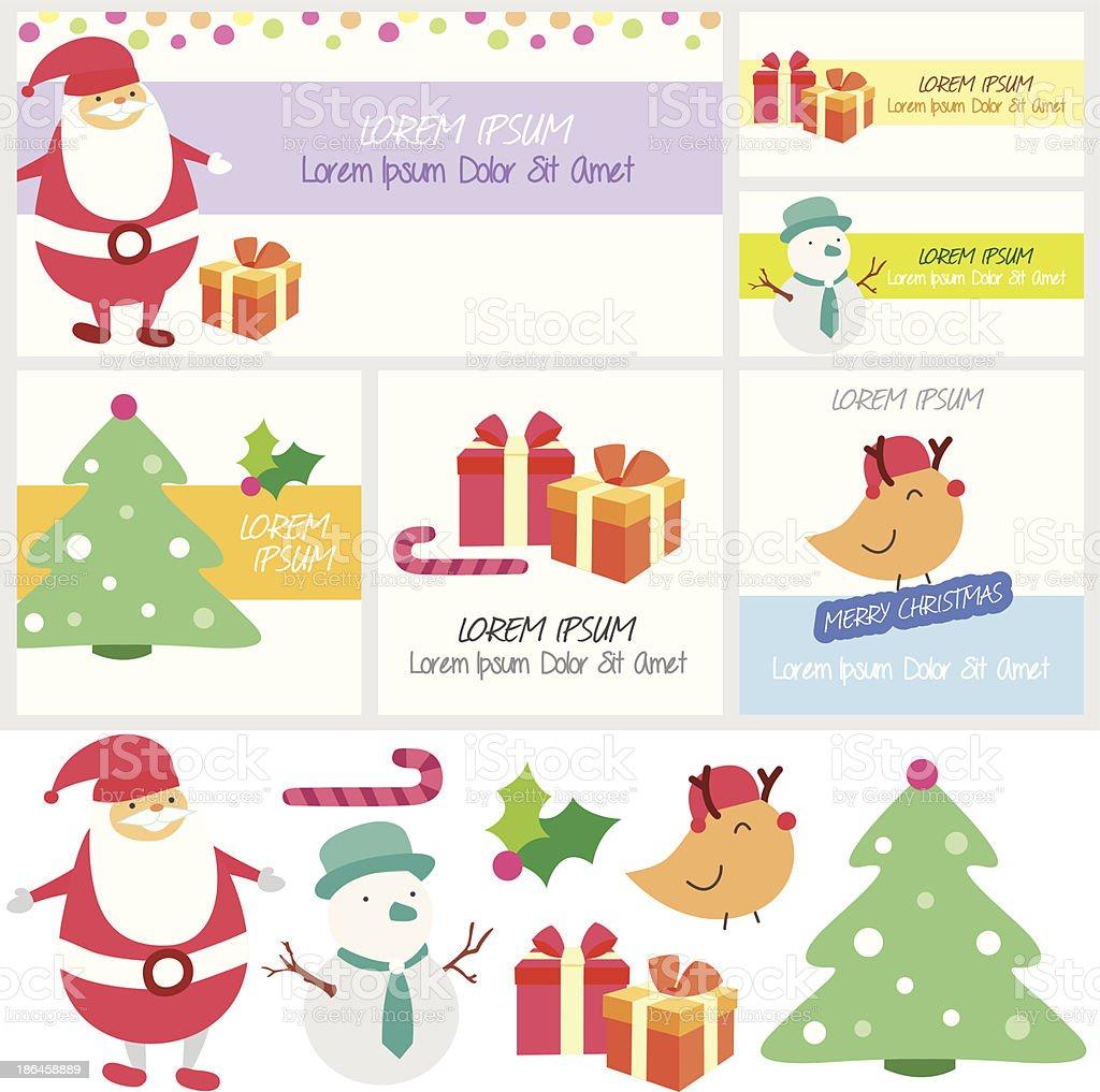 Santa Überraschung Clip Art Und Layoutdesign Stock Vektor Art und ...