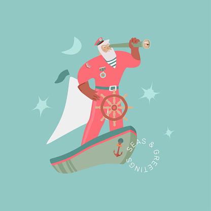 Santa The Sailor Card