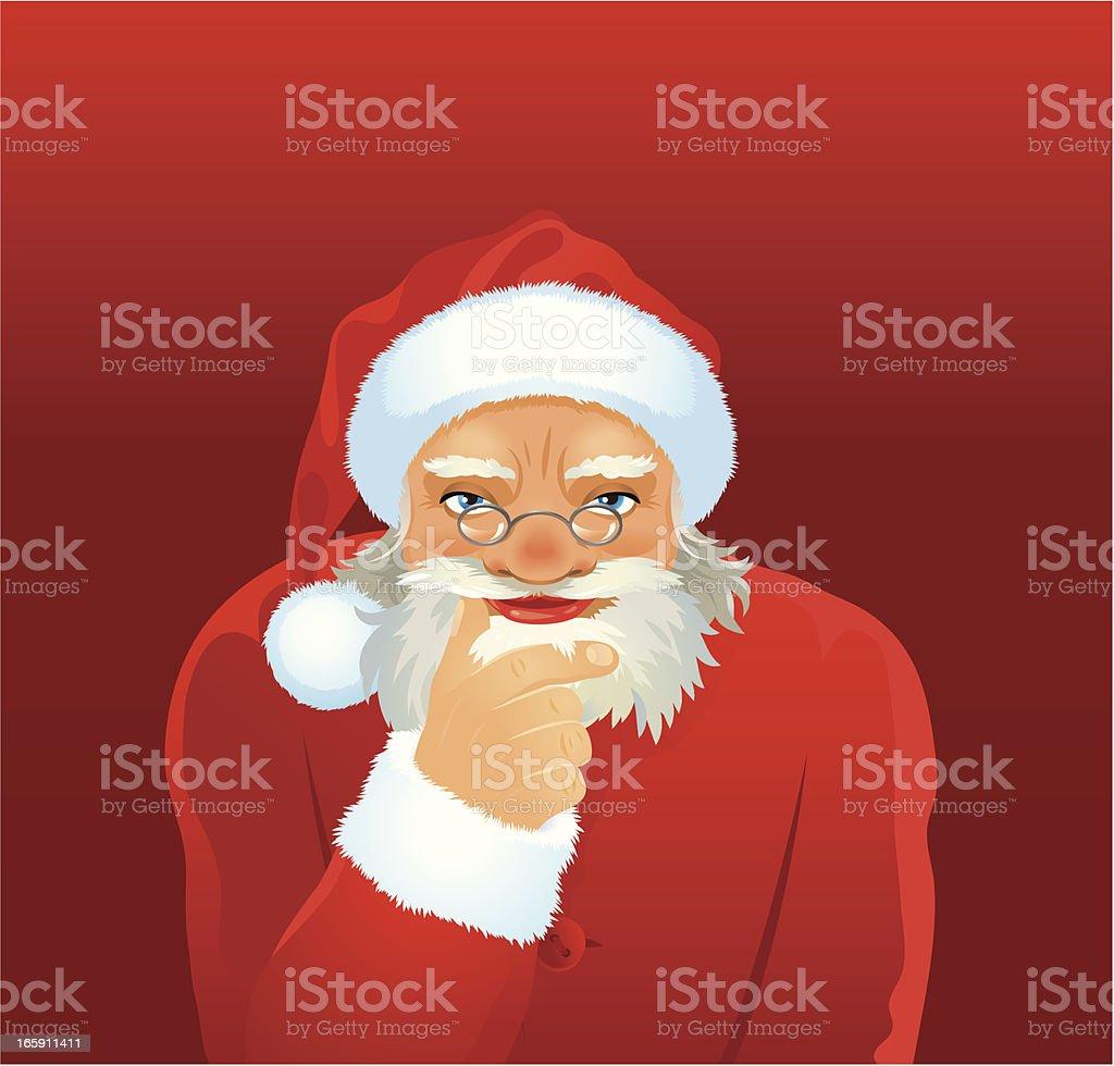 Santa thinking of you royalty-free santa thinking of you stock vector art & more images of beard