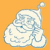 Santa Thinking
