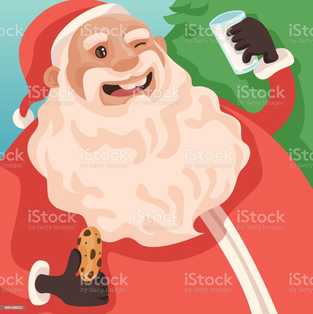 Santa Treats! vector art illustration