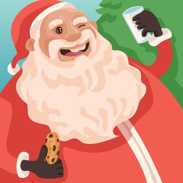 Santa Treats! vector art illustration