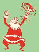 Santa Twirling His Cap