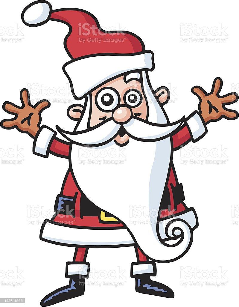 Santa vector art illustration