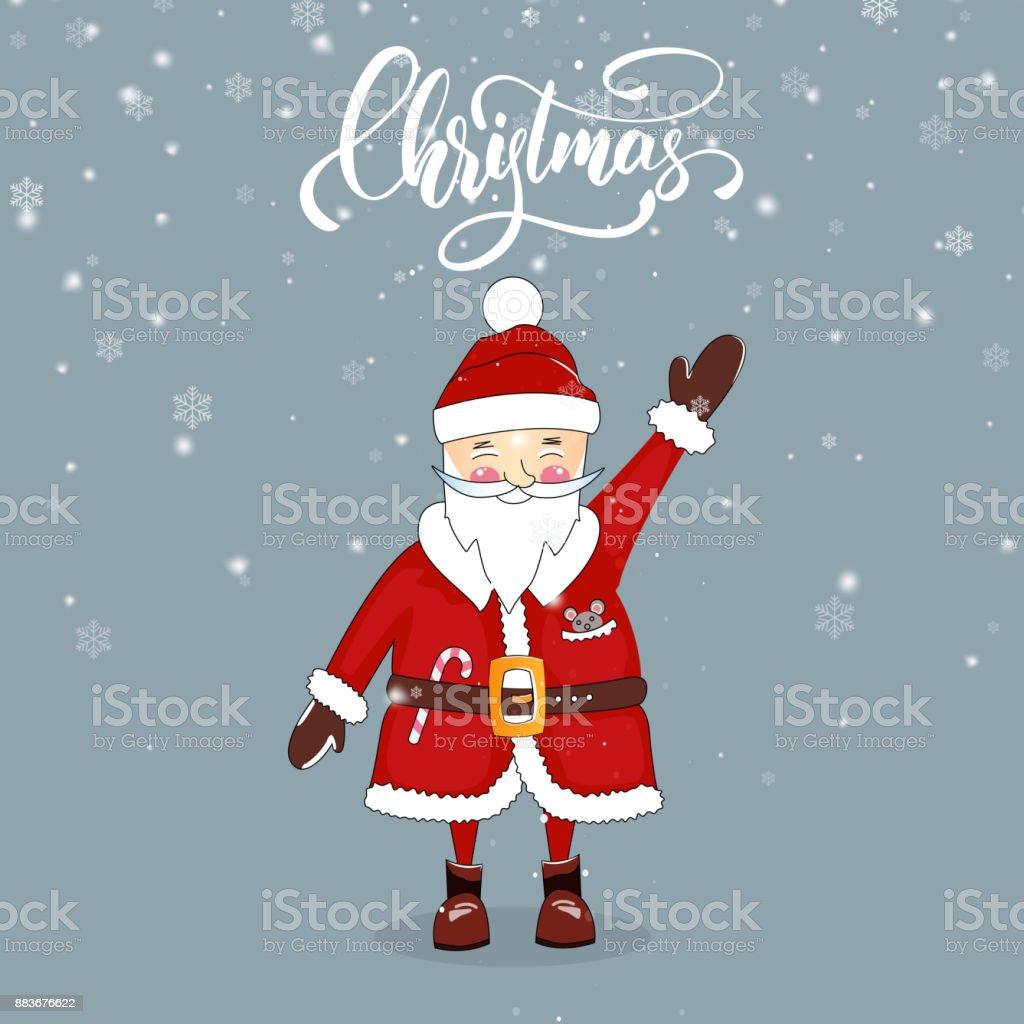 Santa Winterurlaub Cartoon Charakter Und Weihnachten Skript ...