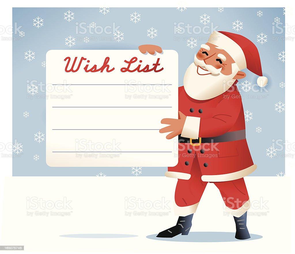 Santa. Wish list royalty-free stock vector art