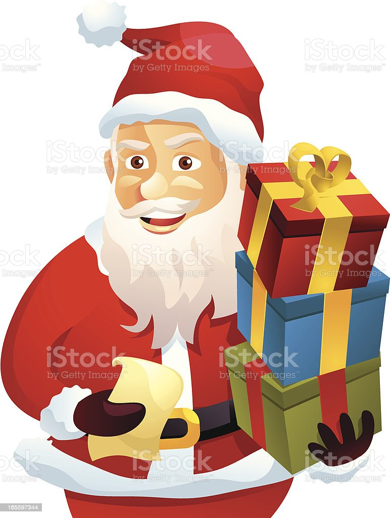 Santa with gifts royalty-free santa with gifts stock vector art & more images of cartoon