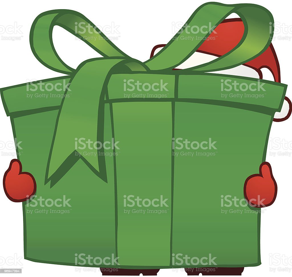 Santa with green parcel royalty-free santa with green parcel stock vector art & more images of advent