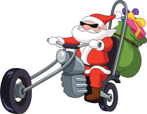Santa with motorcycle