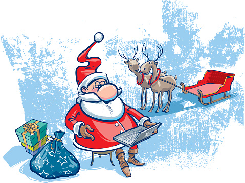 Santa with notebook