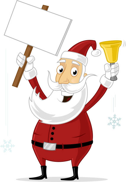 santa with sign - old man crying clip art stock illustrations, clip art, cartoons, & icons
