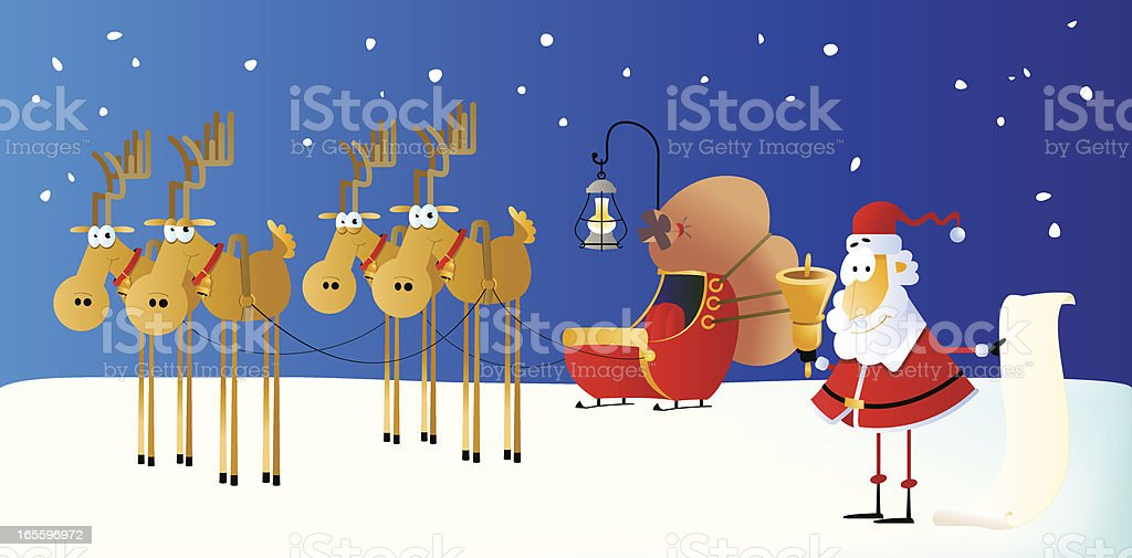 Santa with the list royalty-free santa with the list stock vector art & more images of caricature