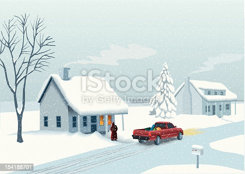 Santa with truck