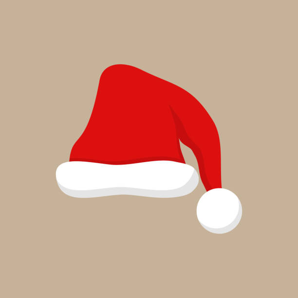 stockillustraties, clipart, cartoons en iconen met santa xmas partij hat - kerstmanhoed