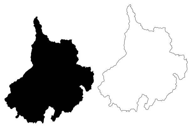karte vektor der santander-abteilung - bucaramanga stock-grafiken, -clipart, -cartoons und -symbole