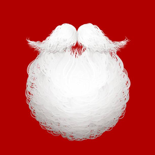 Santa's beard vector art illustration
