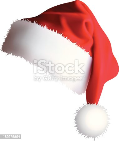 istock Santa's Cap (vector + XXXL jpg) 165976854