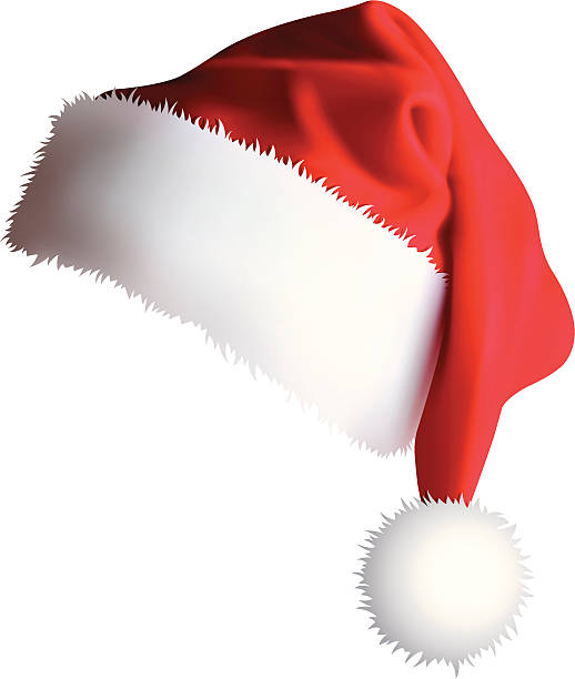 stockillustraties, clipart, cartoons en iconen met santa's cap (vector + xxxl jpg) - kerstmanhoed