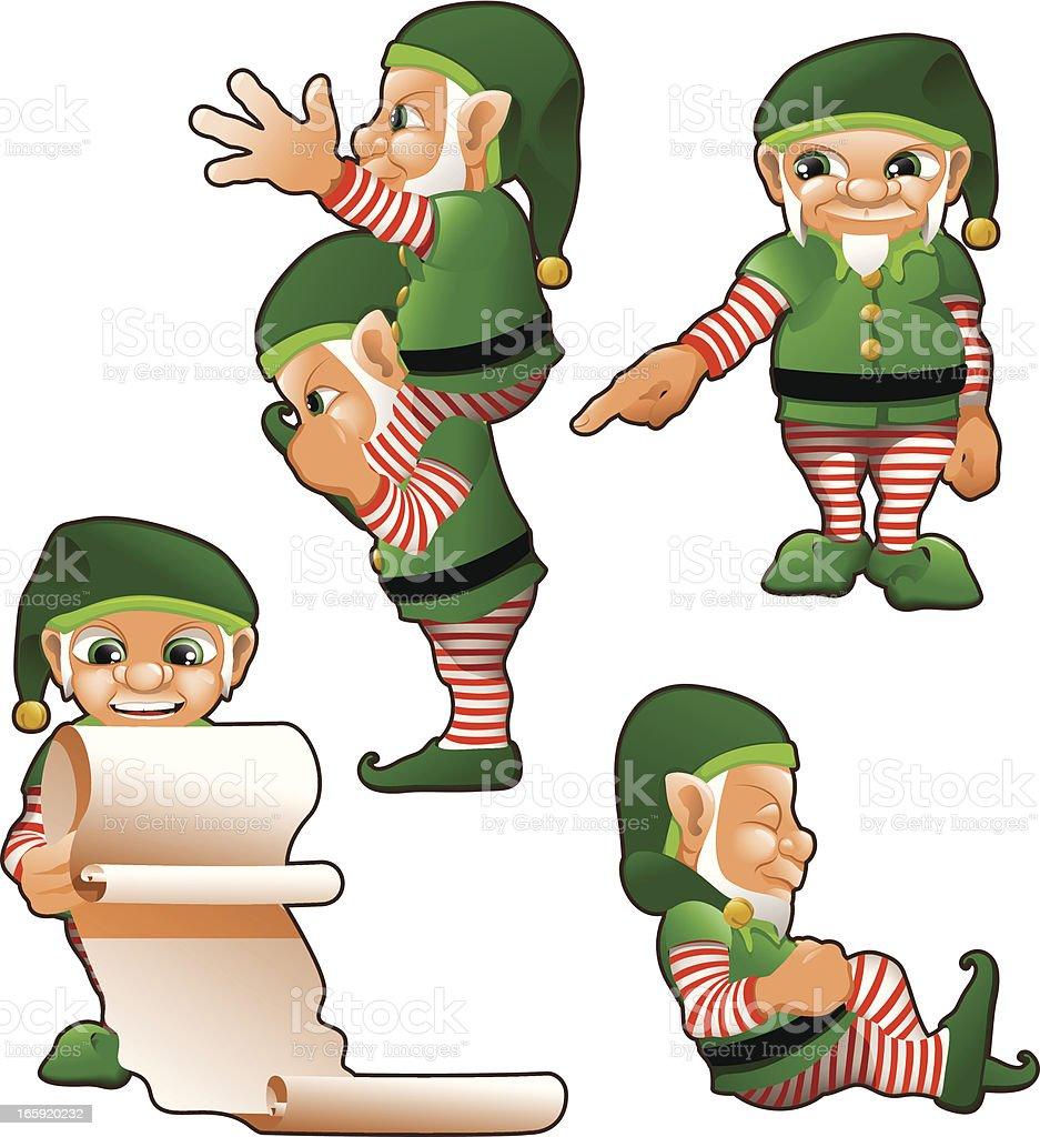 Santas Elfs royalty-free santas elfs stock vector art & more images of beard