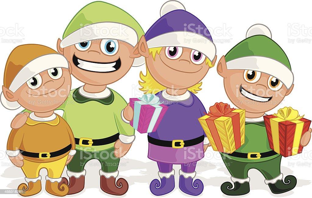 Santa's Elves royalty-free stock vector art