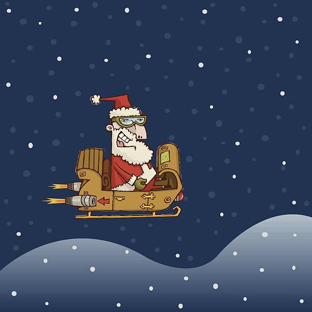 santa's flight - old man sunglasses stock illustrations, clip art, cartoons, & icons