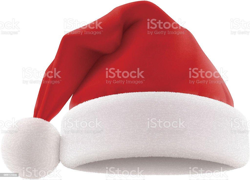 Santa's Hat vector art illustration