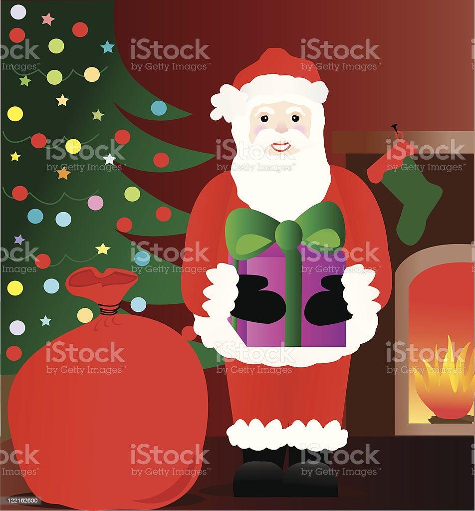 Santa's Here royalty-free santas here stock vector art & more images of bag