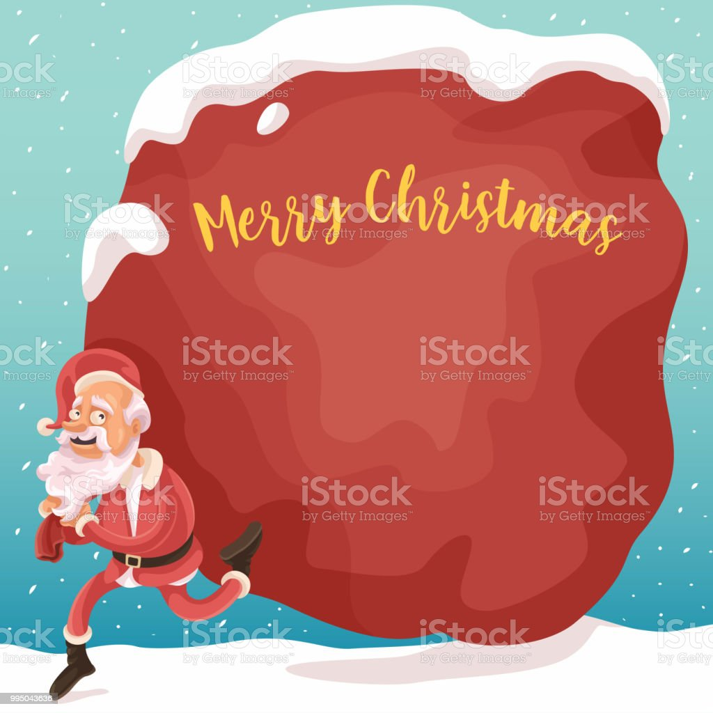 Santa's Here! vector art illustration