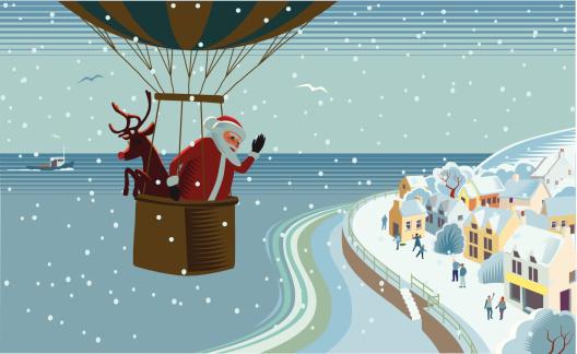 Santas hot air balloon