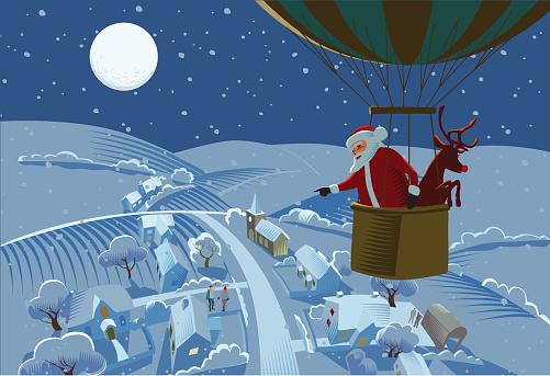 Santa,s hot air balloon