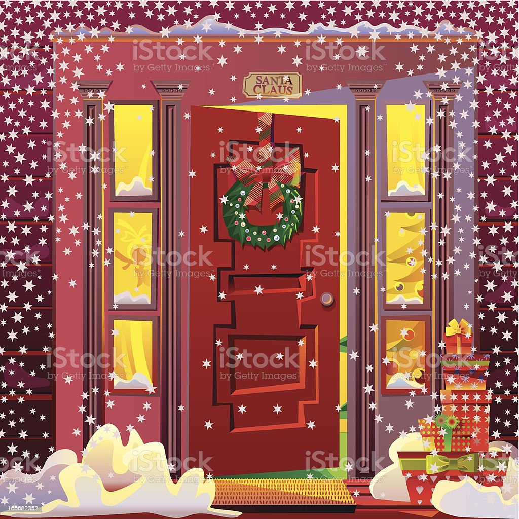Santa's House - Royalty-free Backgrounds stock vector