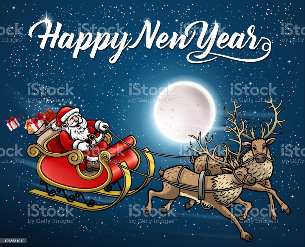 santas new year card royalty free santas new year card stock vector art