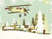 Santa flying on his plane over a christmas village. Note: layered file for easy edition. [b]See for more similar images:[/b] [url=http://www.istockphoto.com/file_search.php?action=file&lightboxID=4827014] [img]http://www.produccionescolargol.com/BannerChristmas.jpg[/img][/url] [url=http://www.istockphoto.com/stock-illustration-10524576-santa-s-christmas-card.php?st=e9620bc] [img]http://www.istockphoto.com/file_thumbview_approve/10524576/1/10524576-santa-s-christmas-card.jpg[/img][/url] [url=http://www.istockphoto.com/stock-illustration-14734433-santa-s-christmas-band.php?st=216d4a0][img]http://www.istockphoto.com/file_thumbview_approve/14734433/1/14734433-santa-s-christmas-band.jpg[/img][/url]  [url=http://www.istockphoto.com/stock-illustration-11257063-santa-and-children-skating.php?st=0985efc][img]http://www.istockphoto.com/file_thumbview_approve/11257063/1/11257063-santa-and-children-skating.jpg[/img][/url][url=http://www.istockphoto.com/stock-illustration-10866573-christmas-snowman.php?st=46cfe17] [img]http://www.istockphoto.com/file_thumbview_approve/10866573/1/10866573-christmas-snowman.jpg[/img][/url] [url=http://www.istockphoto.com/stock-illustration-11296262-nativity-scene.php?st=bc56490][img]http://www.istockphoto.com/file_thumbview_approve/11296262/1/11296262-nativity-scene.jpg[/img][/url] [url=http://www.istockphoto.com/stock-illustration-10831478-three-wise-men.php?st=18c1699][img]http://www.istockphoto.com/file_thumbview_approve/10831478/1/10831478-three-wise-men.jpg[/img][/url] [url=http://www.istockphoto.com/stock-illustration-13976065-elves-and-christmas-bells.php?st=193ee40][img]http://www.istockphoto.com/file_thumbview_approve/13976065/1/13976065-elves-and-christmas-bells.jpg[/img][/url][url=http://www.istockphoto.com/stock-illustration-10547975-christmas-tree-background.php?st=3919272][img]http://www.istockphoto.com/file_thumbview_approve/10547975/1/10547975-christmas-tree-background.jpg[/img][/url]