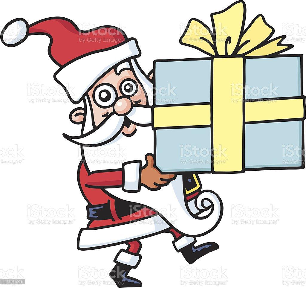Santa's present vector art illustration
