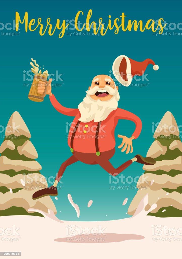 Santa's Ready to Party vector art illustration