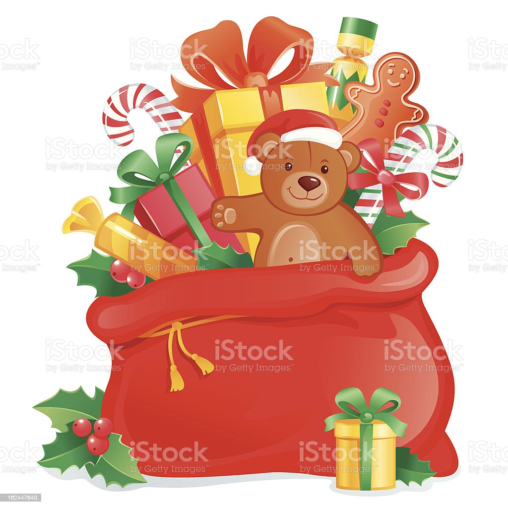 Santa's sack royalty-free stock vector art