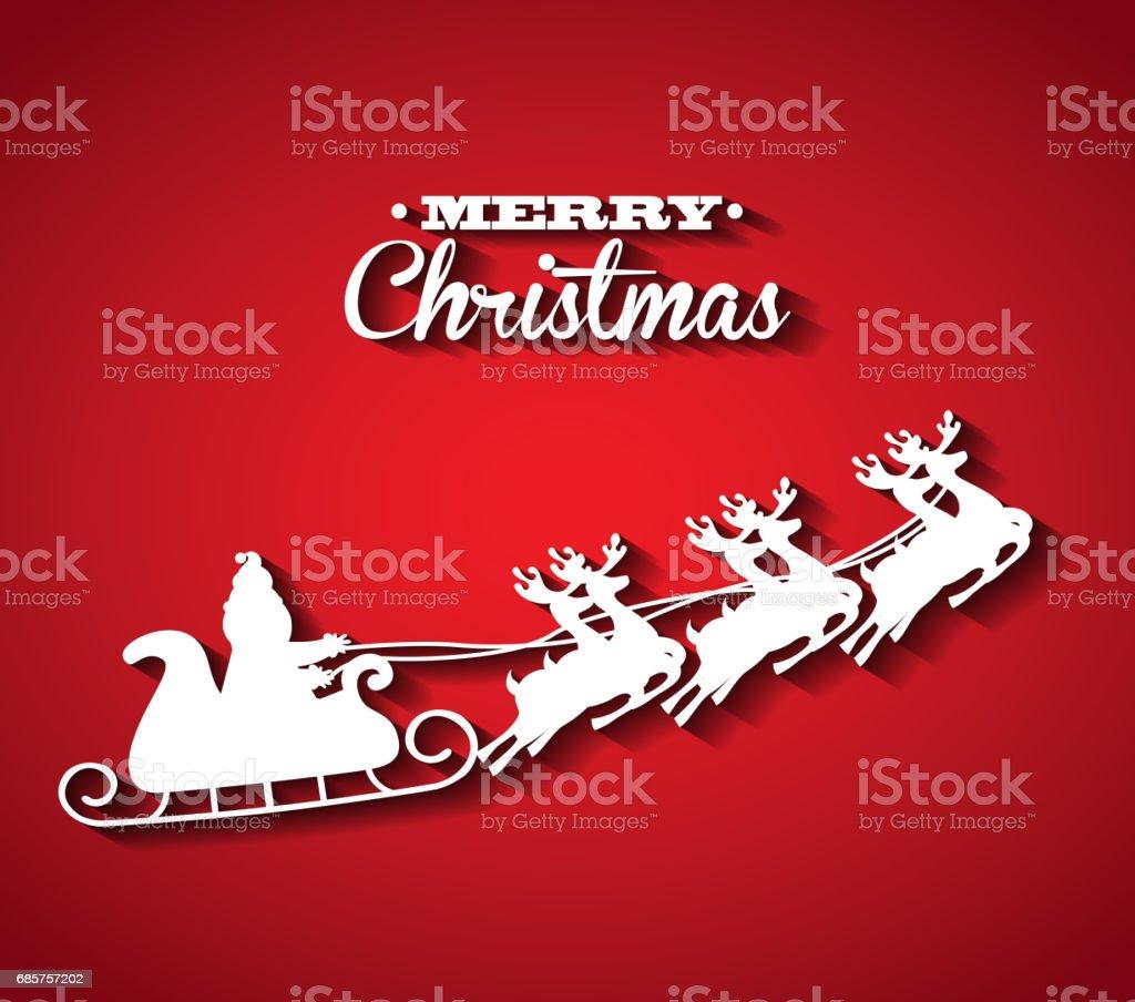 Santas sleigh icon. Merry Christmas design. Vector graphic royalty free santas sleigh icon merry christmas design vector graphic stockvectorkunst en meer beelden van bedekken