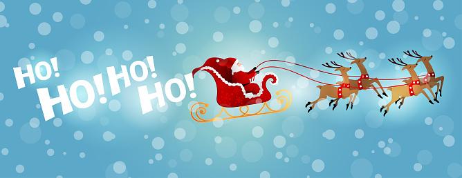 Santa's Sleigh Ride in Winter