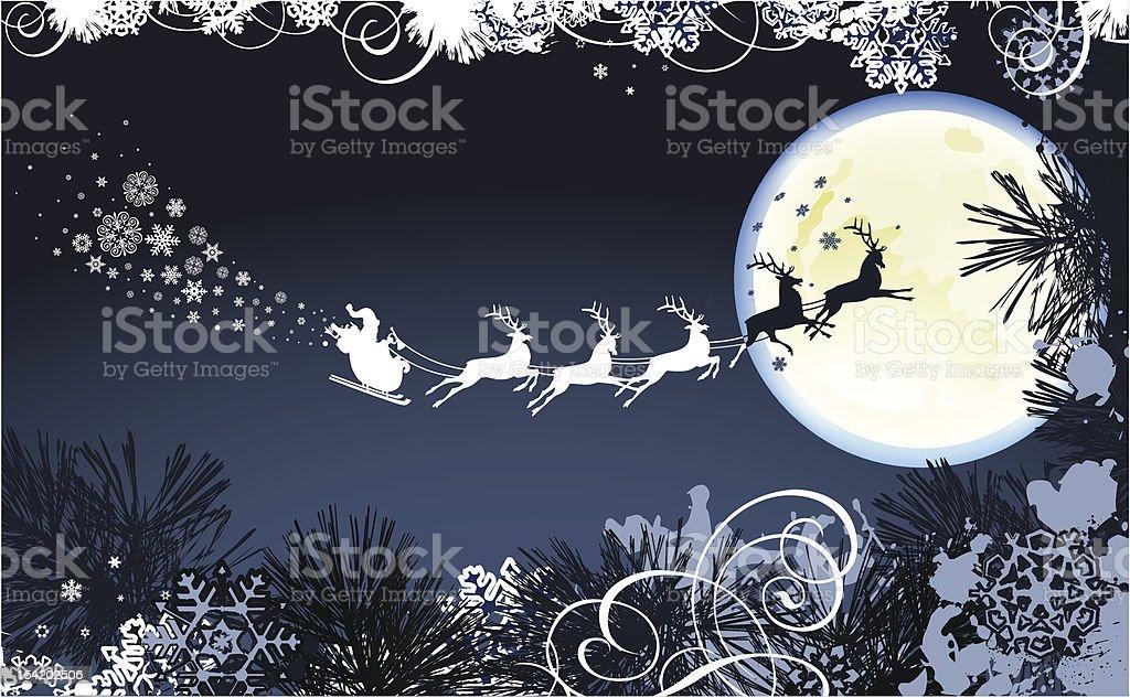 Santa's Sleigh. royalty-free stock vector art