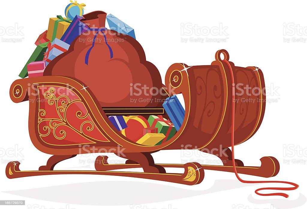 Santa's Sleigh royalty-free stock vector art