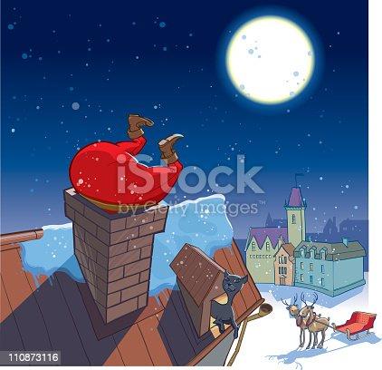 istock Santa's visit 110873116