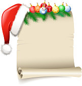 design of vector blank santa's wish list.This file was recorded with adobe illustrator cs4 transparent.EPS 10 format.