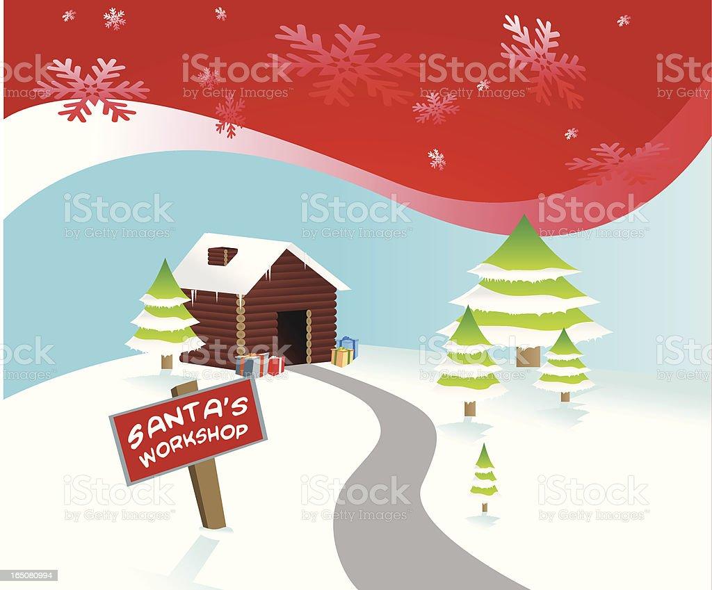 Atelier du Père Noël - Illustration vectorielle